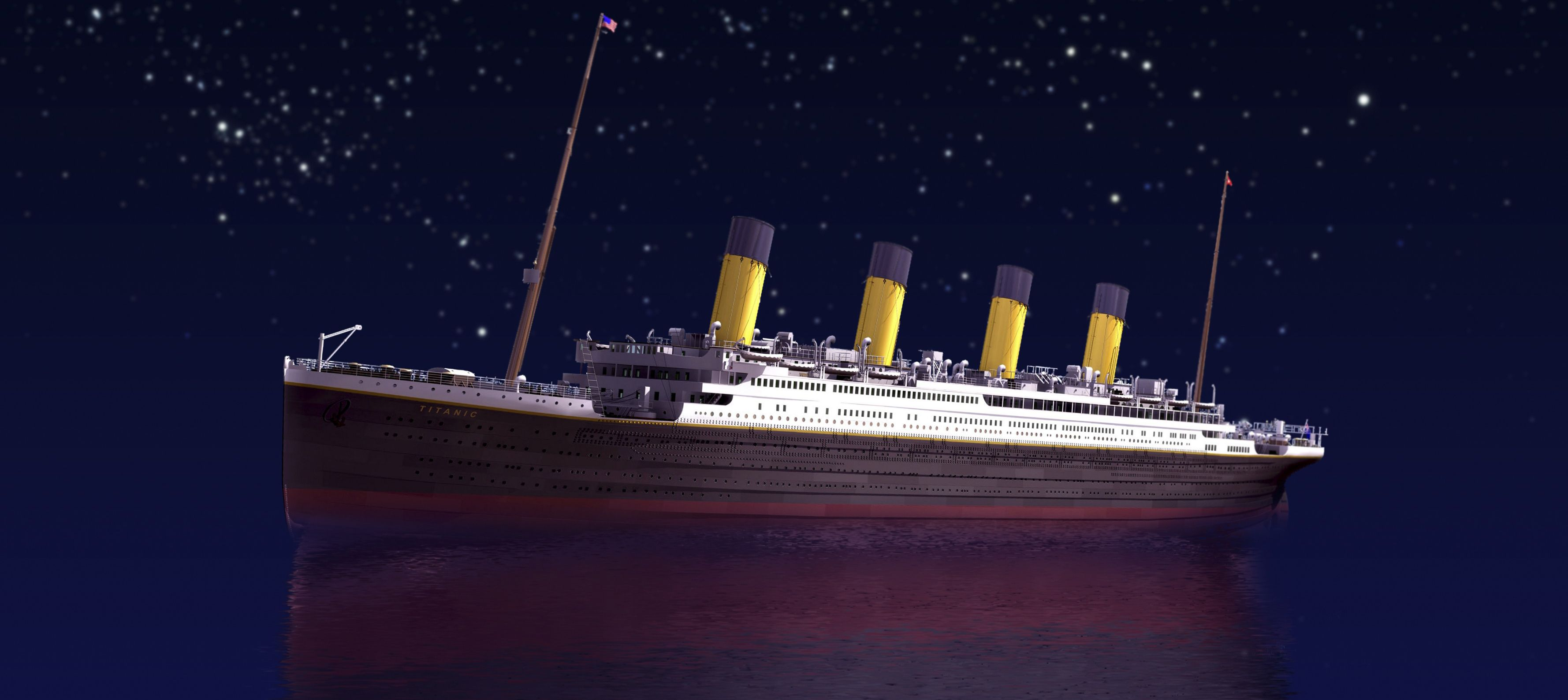 Twenty Titanic Facts - sailing at night
