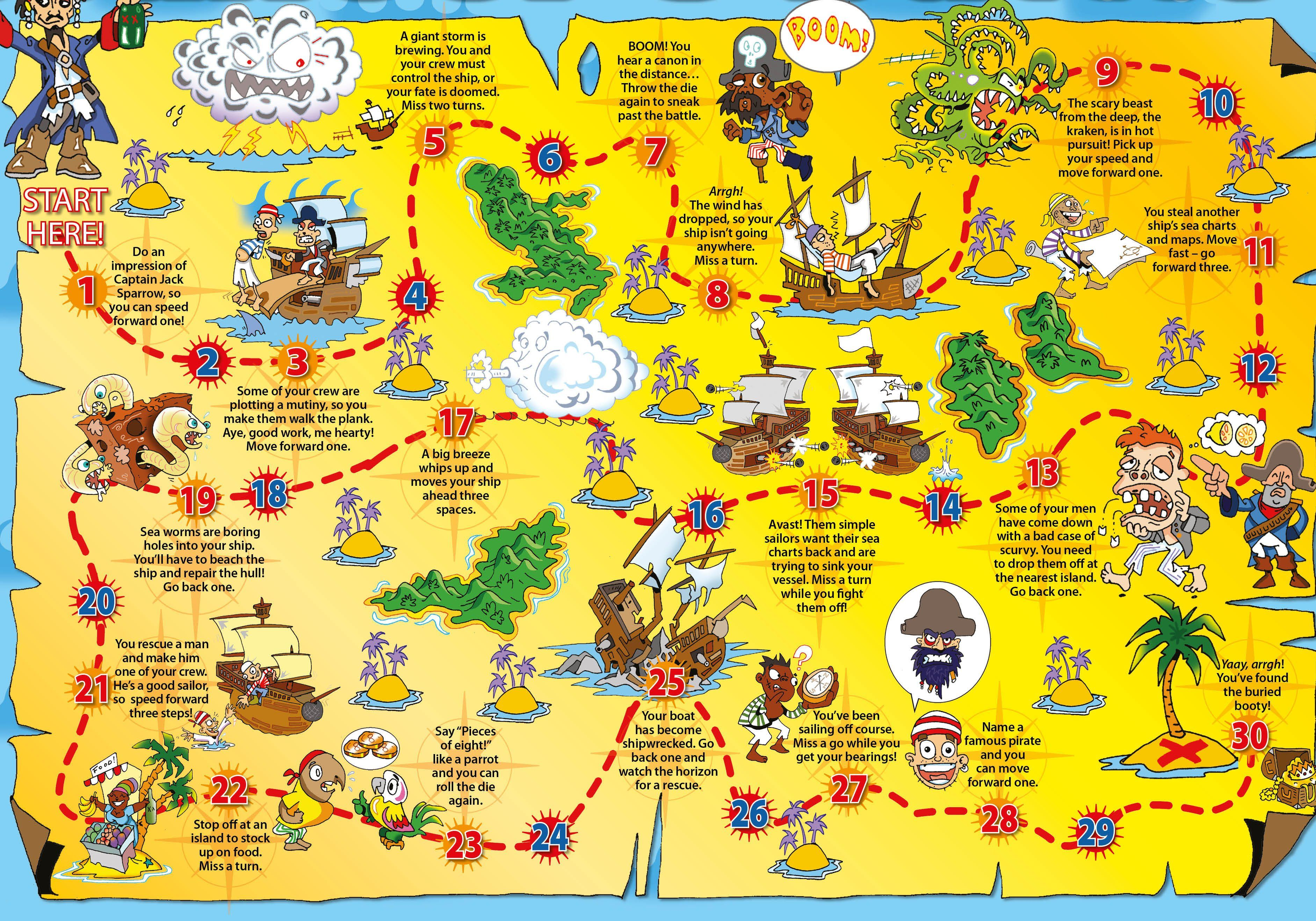 Pirate board game   National Geographic Kids