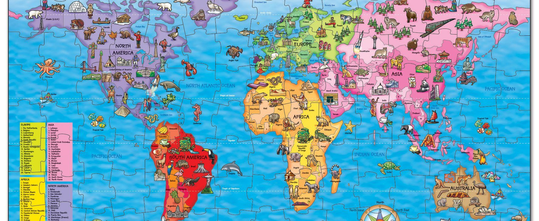Win a world map jigsaw puzzle national geographic kids win a world map jigsaw gumiabroncs Choice Image