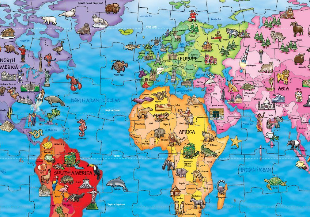 Win a world map jigsaw puzzle National Geographic Kids