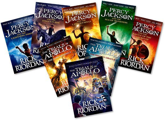The Trials of Apollo and Percy Jackson books
