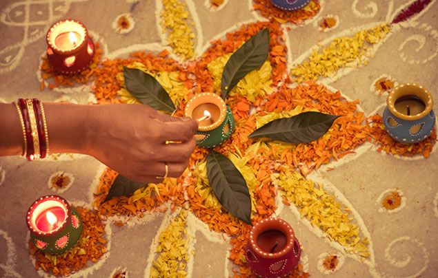 Facts about Diwali - rangoli