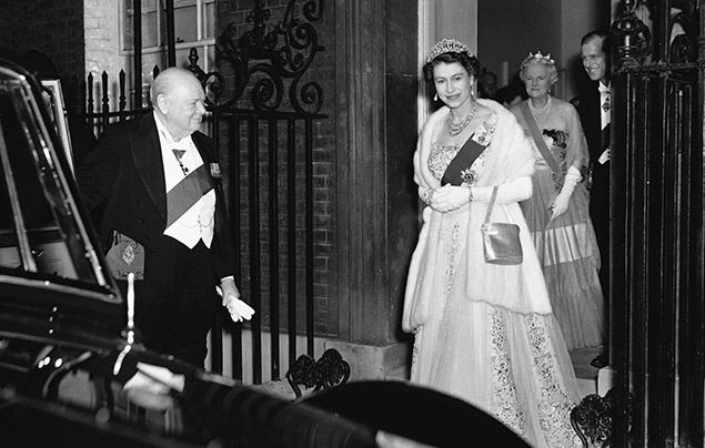 Facts about the Queen: Elizabeth II pictured with Winston Churchill