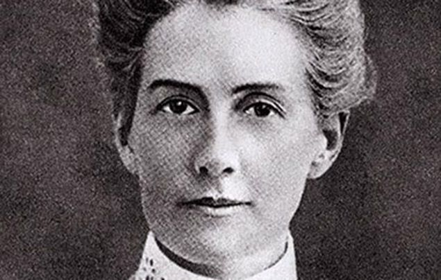 International Women's Day: black and white photograph of Edith Cavell
