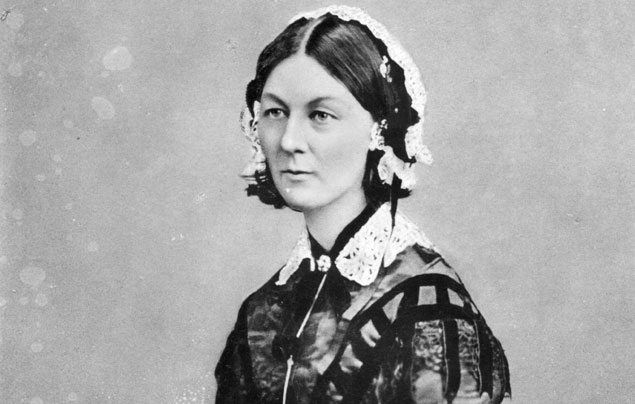 International Women's Day: black and white photograph of Florence Nightingale