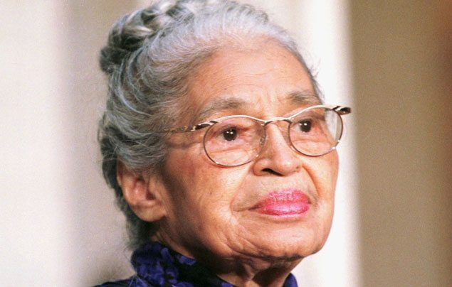International Women's Day: picture of an elderly Rosa Parks