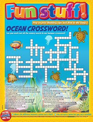 Ocean Crossword Primary Resource - Small Image