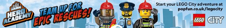 Lego City Fire Police HPTO banner April