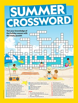 Summer Crossword Primary Resource Small Image