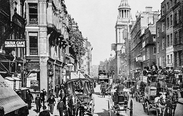 Victorian facts: black and white photograph of Cheapside, London