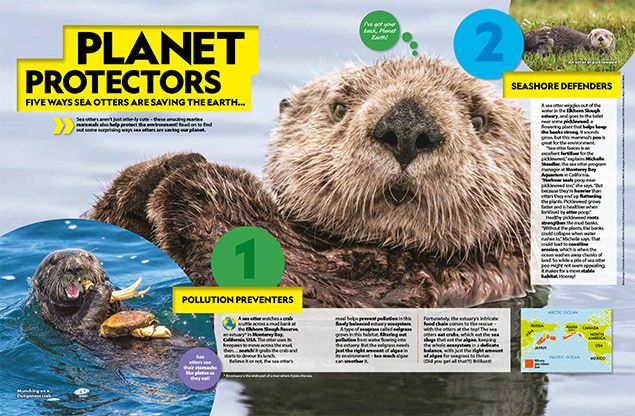 National Geographic Kids magazine inside pages