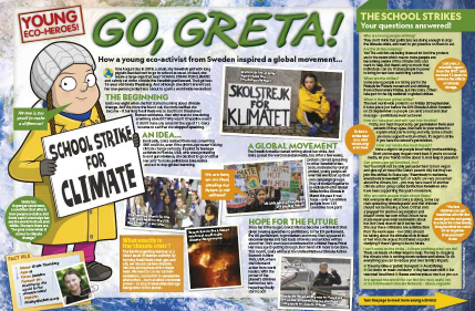 National Geographic Kids subscription: image of a magazine spread