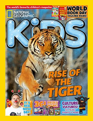 National Geographic Kids magazine: tiger cover