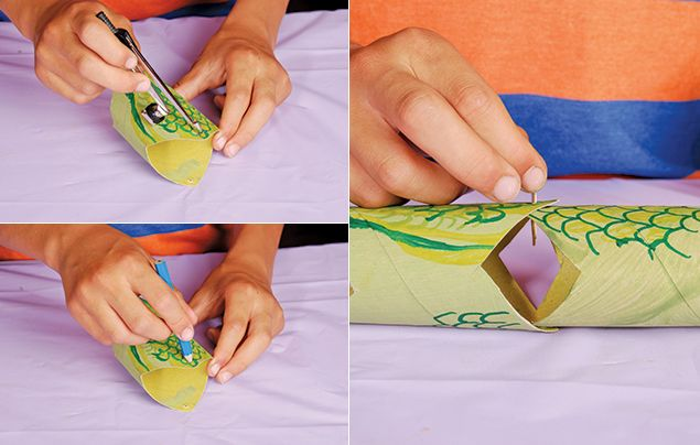 Snake toilet roll craft step 4