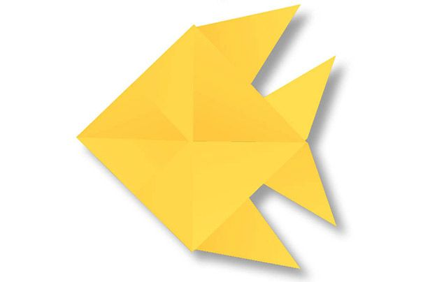 Origami for kids: fish