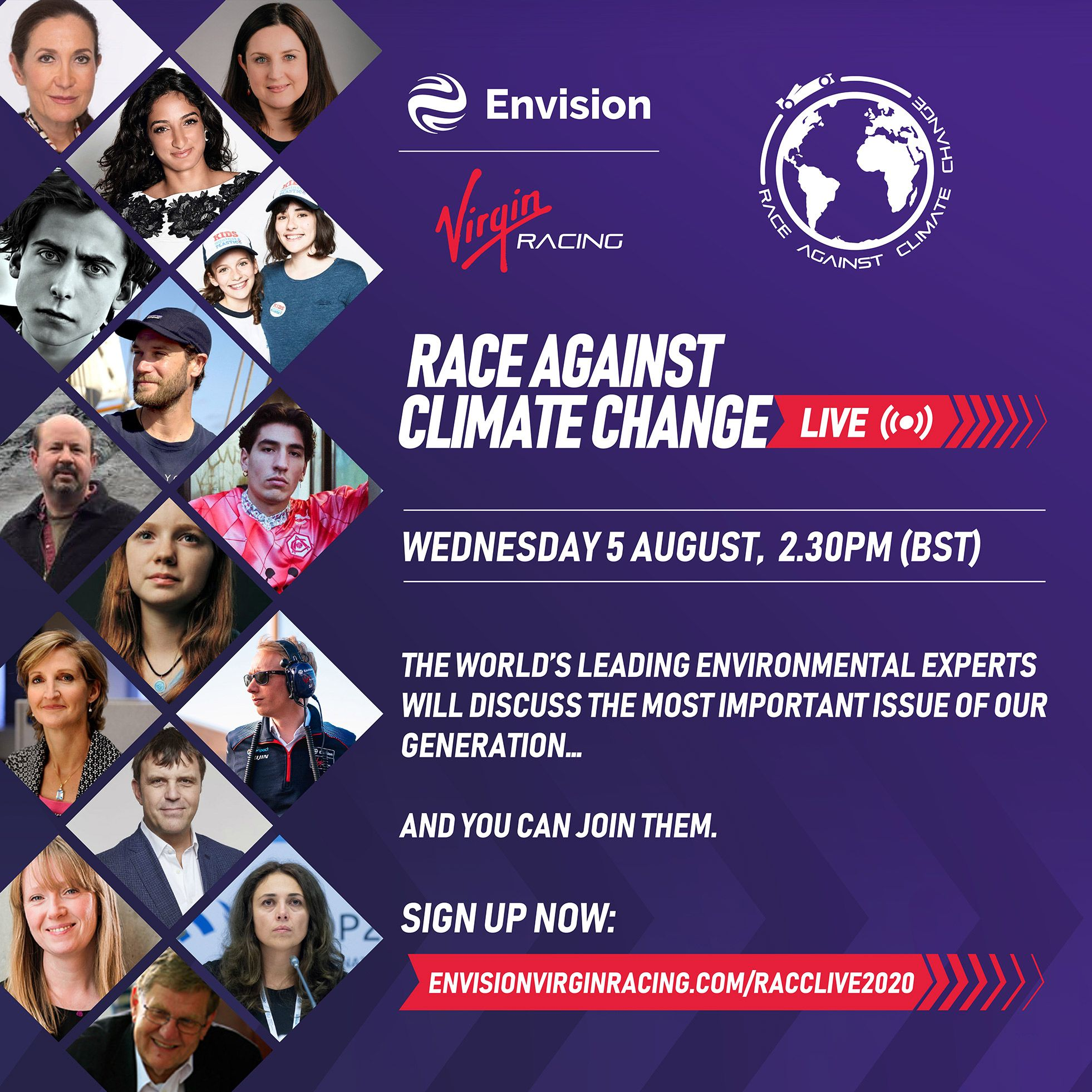 Envision Virgin Racing Race Against Climate Change Live