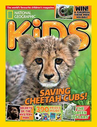 National Geographic Kids magazine: cheetah cover