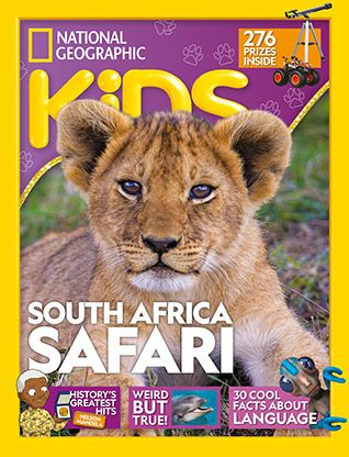 National Geographic Kids magazine: lion cover