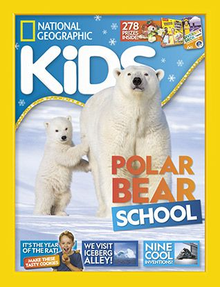 National Geographic Kids magazine: polar bear cover