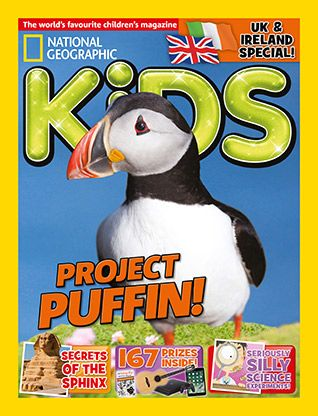 National Geographic Kids magazine: puffin cover