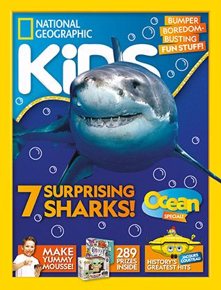National Geographic Kids magazine: shark cover