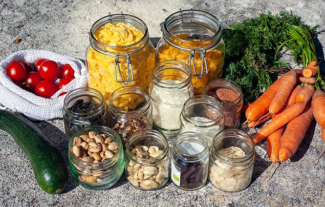 How to appreciate nature   Food in jars