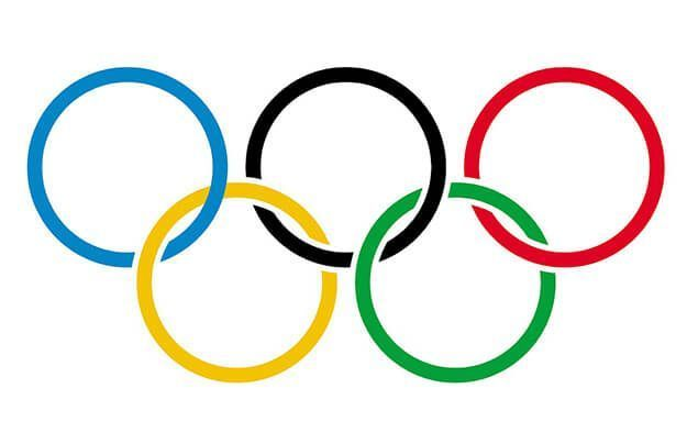 Facts about the Olympics | five interlocking rings - a blue, yellow, black, green, and red