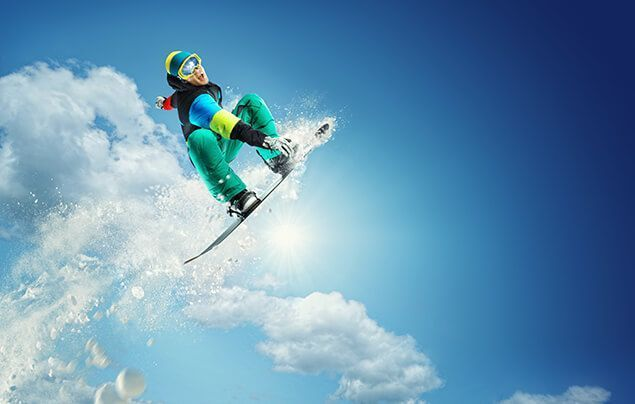 facts about the olympics | a snowboarder flies through the air